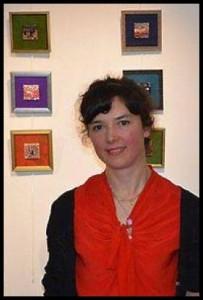 """Céline Lecoq, artiste de l'exposition """"Fibres sensibles"""" à La Passerelle à La Gacilly"""